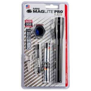 Maglite Mini Pro LED 272 Lumens AA Twist Head Type Switch Aluminum Body Black
