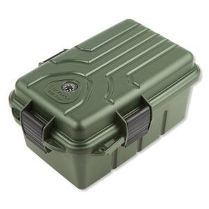"MTM Survivor Dry Box Green MTM Case-Gard Plastic Lockable 10x7x4.75""  Snap Lock Latch Compass O-Ring Seal"