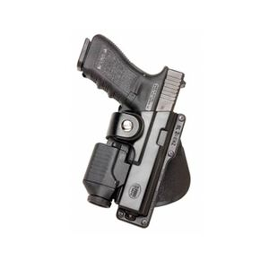 Fobus Tactical Holster Glock 17,22,31/Ruger American Fullsize 9mm/.40/.45 Left Hand Paddle Attachment Polymer Black