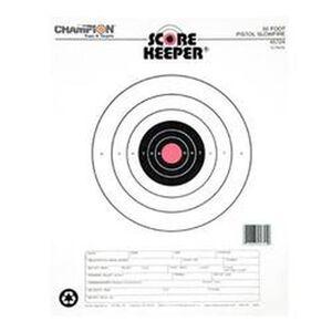 Champion Scorekeeper 50 Foot Pistol Slow Fire Paper Target Orange Bull 12 Pack 45724
