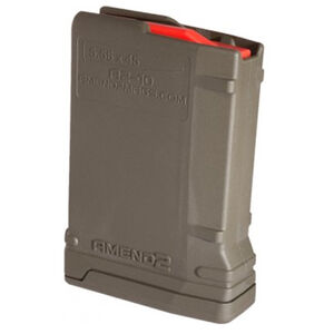 Amend2 Mod-2 AR-15 10 Round Magazine .223 Remington/5.56 NATO Anti-tilt Super Follower Stainless Steel Spring Polymer Olive Drab Green
