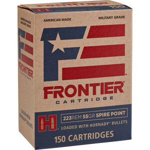 Hornady Frontier .223 Remington Ammunition 55 Grain Soft Point 3240 fps