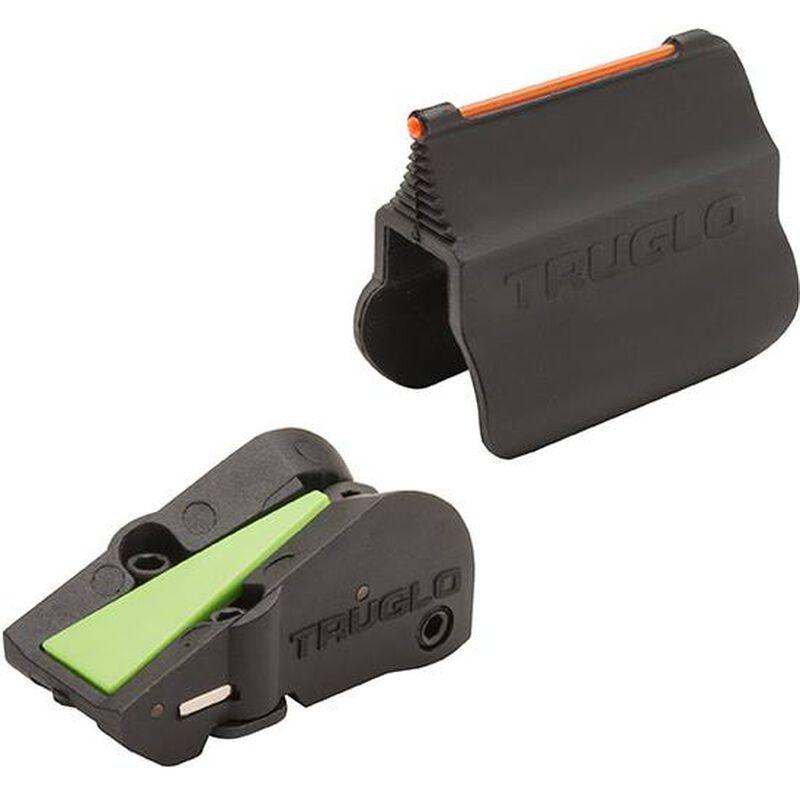 TruGlo FAST Universal Shotgun Sight Set Fiber Optic Steel Black