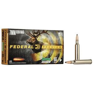 Federal Premium Sierra GameKing 7mm Remington Magnum Ammunition 20 Rounds 165 Grain Sierra GameKing Boat Tail Soft Point 2950fps