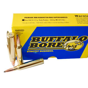 Buffalo Bore 7mm Remington Magnum Ammunition 20 Rounds NP 175 Grains