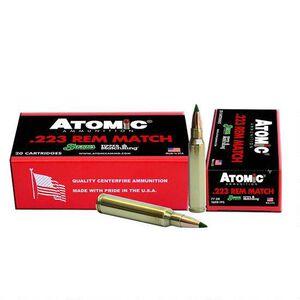 Atomic .223 Remington Ammunition 20 Rounds Match Grade 77 Grain Sierra Tipped MatchKing 2600fps