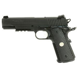"SIG Sauer 1911 TacOps Full Size Semi Auto Pistol 10mm Auto 5"" Barrel 8 Rounds Fixed SIGLITE Night Sights M1913 Accessory Rail Nitron Finish Matte Black"