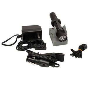 Streamlight Strion LED HL Flashlight 500 Lumens Rechargeable Battery Tail Cap Switch Aluminum with Grip 120VAC/12VDC Chargers Black 74751