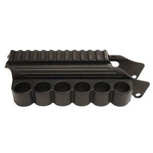 TacStar Shotshell Ammunition Sidesaddle Raised Picatinny Rail 12 Gauge Mossberg 500/590 6 Round Capacity Aluminum Black