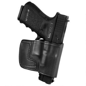 Don Hume J.I.T. GLOCK 43 Slide Holster Right Hand Black Leather J959010R