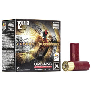 """Federal Wing-Shok Pheasants Forever High Velocity 12 Gauge Ammunition 2-3/4"""" #5 Copper Plated Lead Shot 1-1/4 Ounce 1500 fps"""