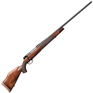 "Weatherby Mark V Deluxe Bolt Action Rifle .340 Wby Mag 26"" Barrel 3 Rounds Walnut Stock Blued Finish"