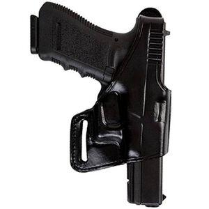 Bianchi 75 Venom S&W M&P 9mm Luger, .40 S&W, .357 SIG Belt Slide Holster Right Hand Leather Black B24842