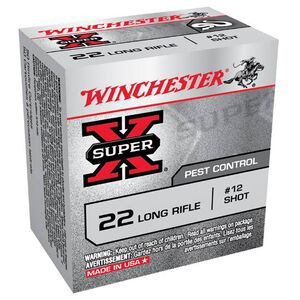 Winchester Super-X .22 LR Shot Shell Ammunition 50 Rounds #12 Lead Shot
