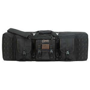 """Voodoo Tactical 36"""" Padded Weapons Case With Die Cut MOLLE Black with Coyote Stitching"""