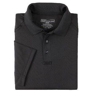 5.11 Tactical Performance Short Sleeve Polo Shirt Polyester Extra Large Black 71049