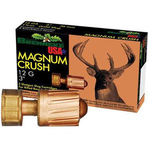 "Brenneke Magnum Crush 12 Gauge Ammunition  5 Rounds  3"" 1.5 Ounce Rifled Slug"