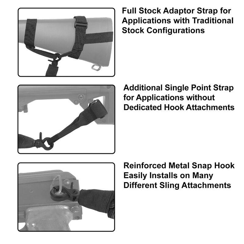 Leapers UTG Gen 2 Single Point Bungee Sling Black PVC-GB505B-B