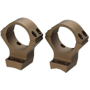 "Browning X-Lock Integrated Scope Mount System 1"" Tube Medium Height Burnt Bronze Cerakote"
