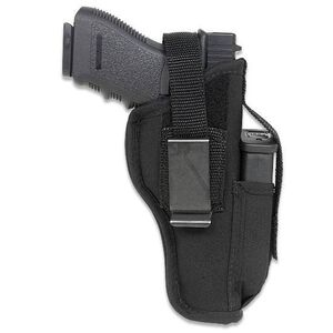 """Gunmate Ambidextrous Hip Holster Large-Frame Autos 4"""" to 5"""" Barrels Size 12 Synthetic Black"""