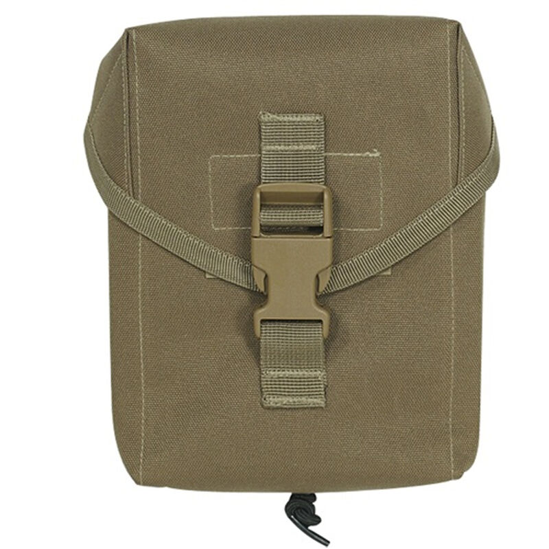 """Voodoo Tactical Military IFAK Individual First Aid Kit Pouch MOLLE Compatible 5.5"""" x 3"""" x 7"""" Nylon Coyote 002107000"""