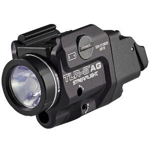 Streamlight TLR-8 A G Compact Handgun Rail 500 Lumen Light/Green Laser Combo Ambi Rear Switch CR123A Aluminum Black Low Switch Installed