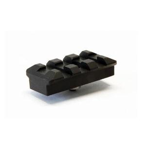 "LongShot 3 Slot (1.600"") KeyMod Picatinny Rail Aluminum Black"