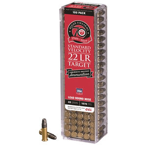CCI Commemorative Standard Velocity .22 Long Rifle Ammunition 100 Rounds 40 Grain Lead Round Nose 1070fps