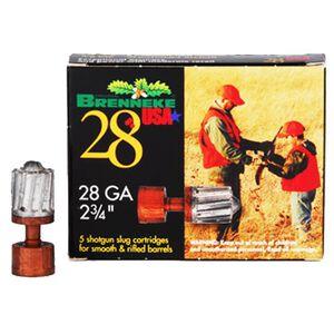 "Brenneke USA 28 ga. 2-3/4"" Rifled Slug 5/8 oz 5 Round Box"