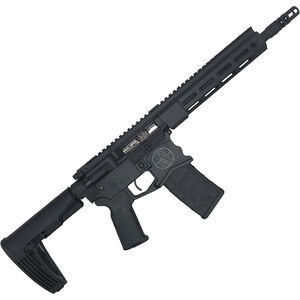 """Spec Arms Protector .300 Blackout AR-15 Semi Auto Pistol, 10.5"""" Match Grade Barrel, 30 Rounds, M-LOK Handguard, Pistol Brace, Armor Black Cerakote Finish"""