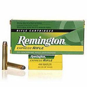Remington Express .444 Marlin Ammunition 20 Rounds 240 Grain Core-Lokt Soft Point Projectile 2350fps