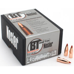 "Nosler Ballistic Tip Lead Free Rifle Bullets 22 Cal .224"" 50 Grain Polymer Tip 100 Count"