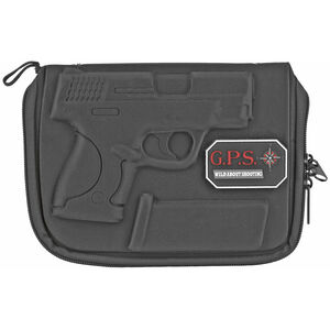 G Outdoors GPS Custom Molded Pistol Case for S&W M&P Shield Black