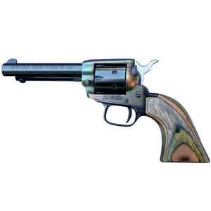 """Heritage Manufacturing Rough Rider Combo Single Action Revolver .22 Caliber 4.75"""" Barrel 6 Rounds Camo Laminate Grips Simulated Case Hardened Finish RR22MCH4"""