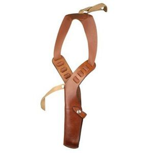 Bianchi X15 Shoulder Holster Glock 17, 19, 20, 21, 22, 23, HK USP 40, 45, Ruger P85, Sig Sauer P226 Rig Right Hand Leather Lined Leather Tan 22208