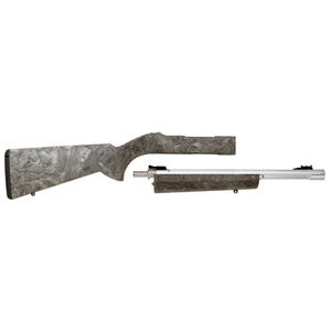 """Tactical Solutions 10/22 Takedown Combo 22LR 16"""" Threaded Barrel Ghillie Green Hogue Stock Silver"""