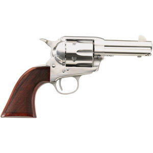 """Taylor's & Co The Runnin' Iron .45 LC Single Action Revolver 3.5"""" Barrel 6 Rounds Tuned Action Checkered Walnut Grips Stainless Steel Finish"""