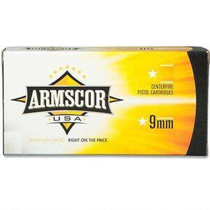 Armscor USA 9mm Luger Full Metal Jacket, 115 Grain, 1097 fps