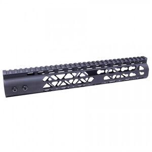 "Guntec AR-15 12"" Air Lite Keymod Free Floating Handguard with Monolithic Top Rail Aluminum Anodized Black"