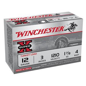 """Winchester SuperX 12 Ga 3"""" #4 Copper Plate 10 Rounds"""