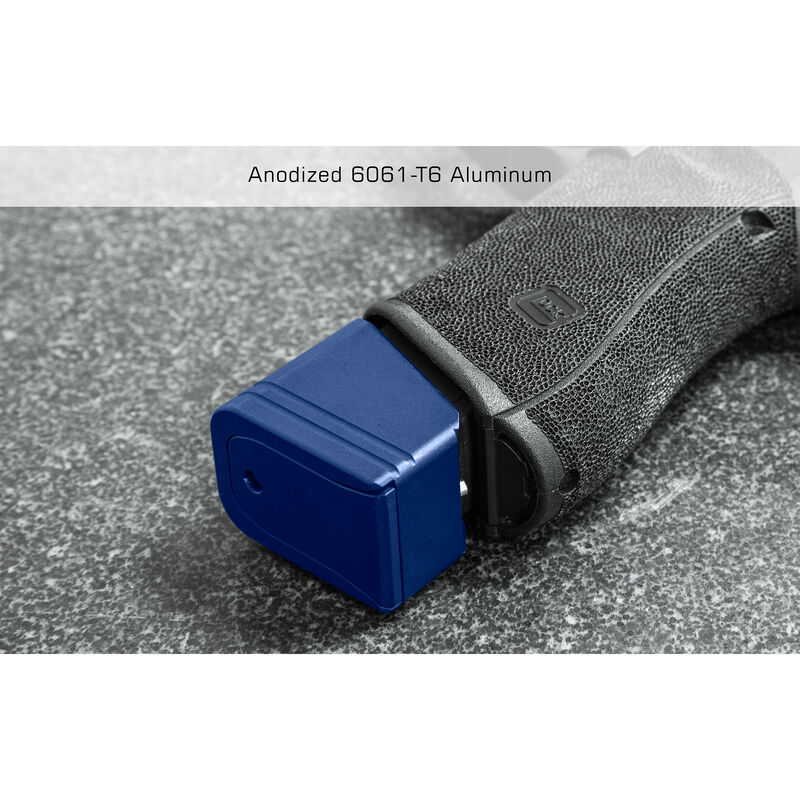 UTG PRO +5 Base Pad for Glock 17/34, Matte Blue Aluminum