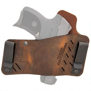 VersaCarry Protector S2 Size 1 IWB/OWB Tuckable Holster Right Hand Draw Leather Distressed Brown
