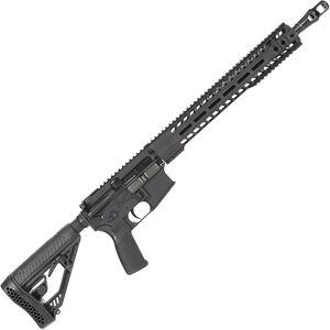 "Radical Firearms AR-15 Semi Auto Rifle .450 Bushmaster 7 Rounds 16"" HBAR Barrel 15"" Free Float MHR Handguard Collapsible Stock Black"