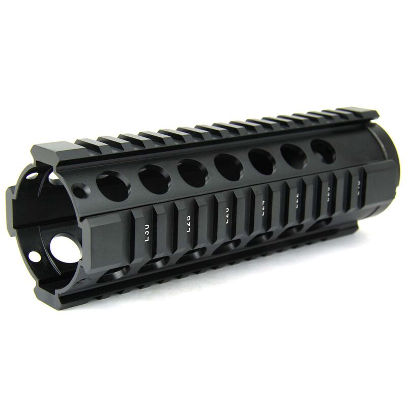 "TacFire AR-15 Free Float Quad Rail Hand Guard 7"" Carbine Length Aluminum Black HG05-7"