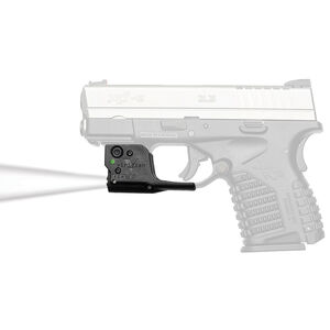 Viridian Reactor TL Gen 2 Tactical Weaponlight 100 Lumen with ECR Springfield Armory XD-S with Ambidextrous IWB Instant-On Holster Polymer Housing Matte Black Finish