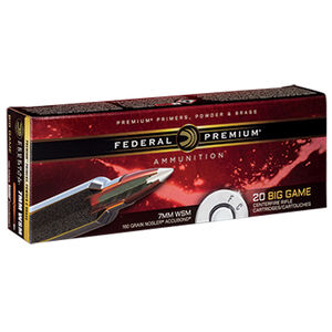 Federal Premium Nosler 7mm WSM Ammunition 20 Rounds 160 Grain Nosler Accubond 3000fps