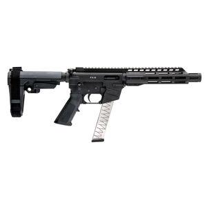 "Freedom Ordnance FX-9 9mm Luger AR Style Semi Auto Pistol 8"" Barrel 31 Rounds Free Float M-LOK Hand Guard SBA3 Stabilizing Brace Matte Black"