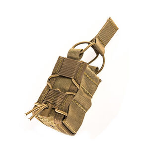 """High Speed Gear 40mm TACO MOLLE Compatible Single 2"""" x 2.25"""" x 4.5"""" Coyote Brown"""