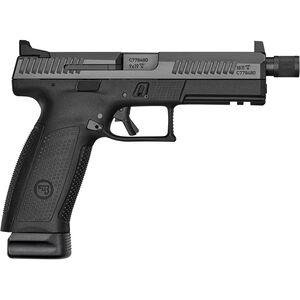 "CZ P-10 F Suppressor-Ready 9mm Luger Semi Auto Pistol 5.11"" Threaded Barrel 21 Rounds High Night Sights Polymer Frame Black Finish"