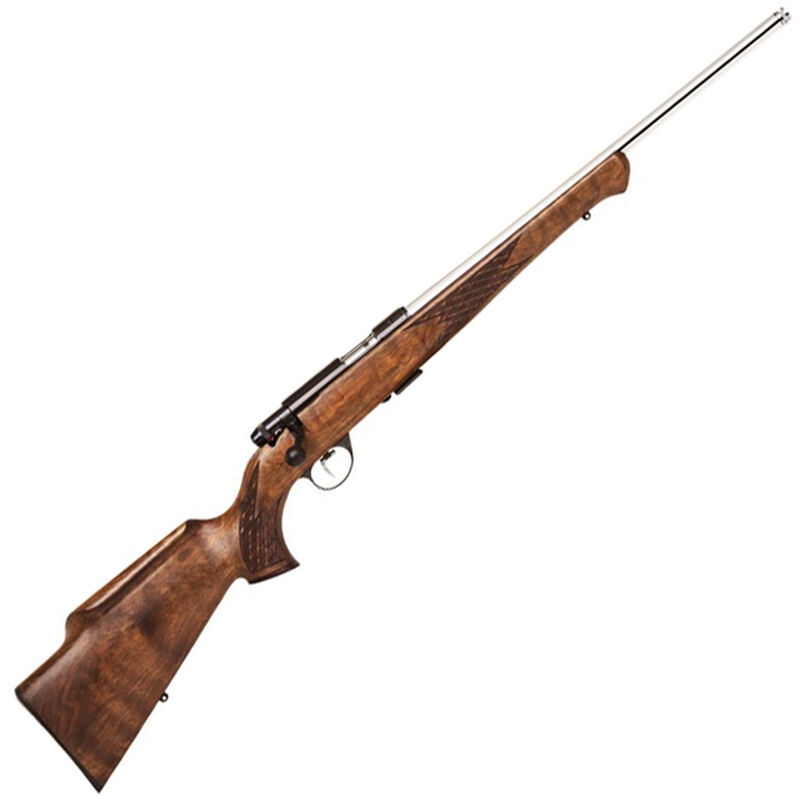 """Anschutz 1712 AV Silhouette Bolt Action Rimfire Rifle .22 LR 18"""" Threaded Barrel 5 Rounds Two Stage Trigger Walnut Stock Stainless Finish"""